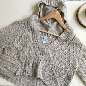 '90s cable knit cropped sweater